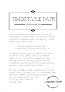 Times Tables Pack